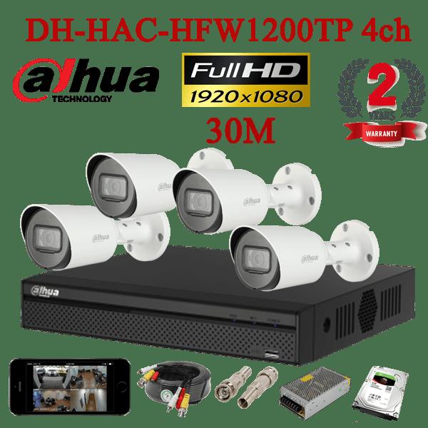 DH-HAC-HFW1200TP 4ch