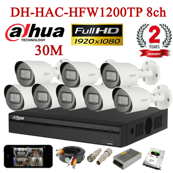 DH-HAC-HFW1200TP 8ch