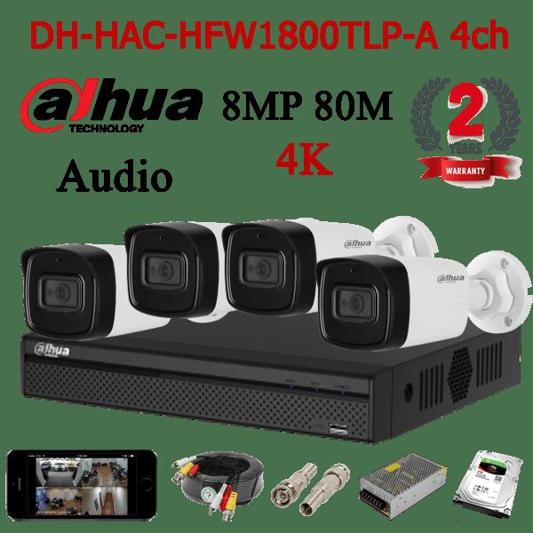 DH-HAC-HFW1800TLP-A 4ch