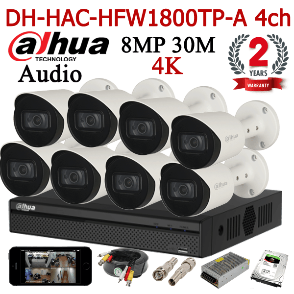 DH-HAC-HFW1800TP-A 8ch