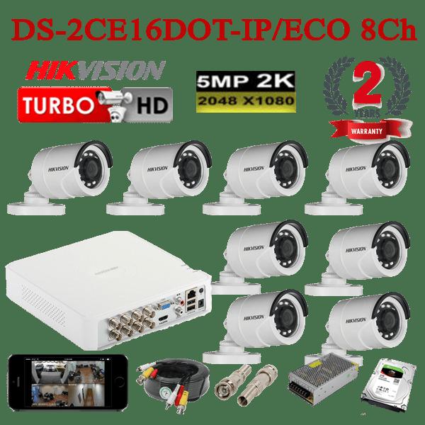 DS-2CE16DOT-IP/ECO 8Ch